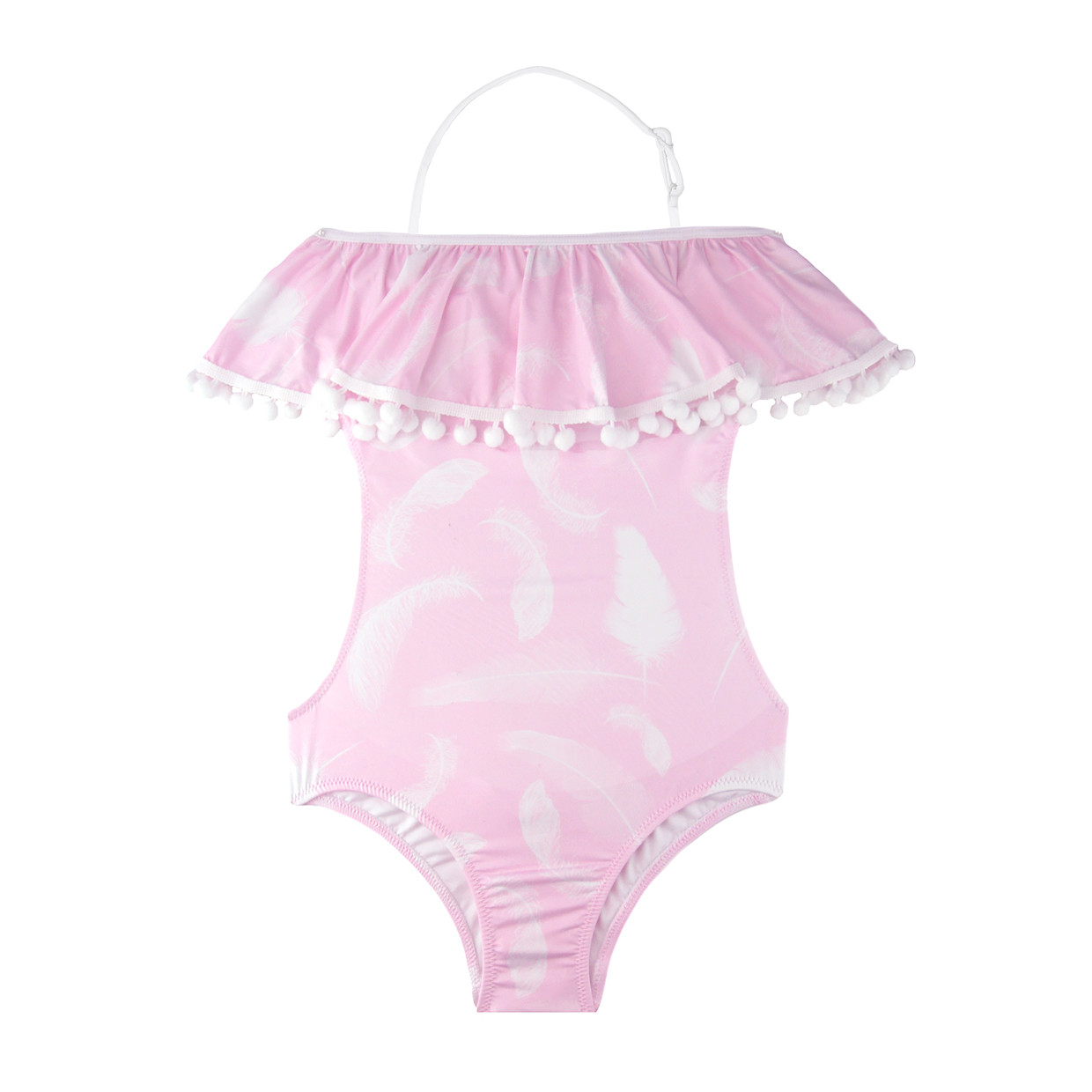 b559372644 Stella Cove Pink Feather Ruffle Bathing Suit